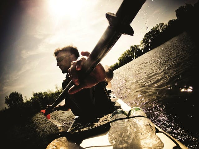Peter Johnson in his kayak (credit: Glenn Charles)