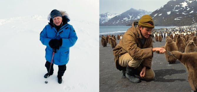 WFN trustee, Sir David Attenborough & natural history film maker, Alastair Fothergill