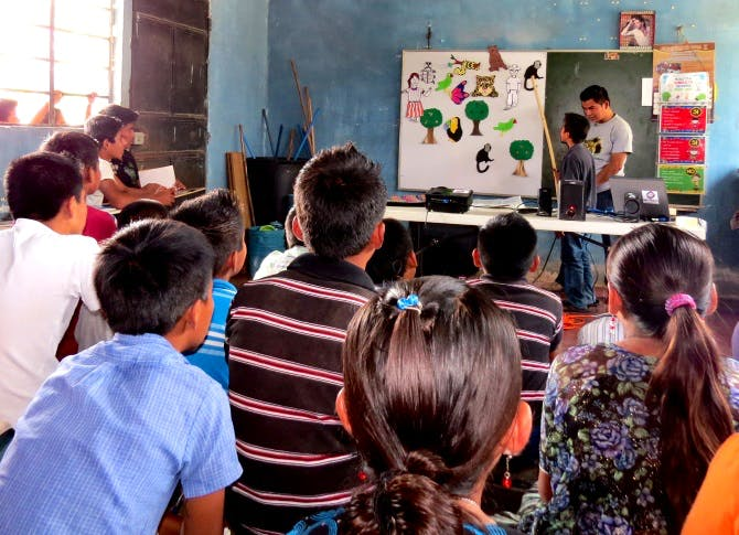 Marleny's environmental education programme is the first to be endorsed by the Guatemalan government