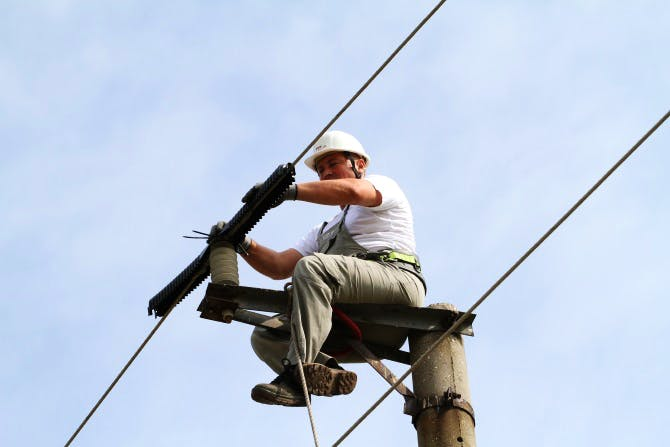 Insulating electricity cables is a simple but effective way of protecting Imperial eagles