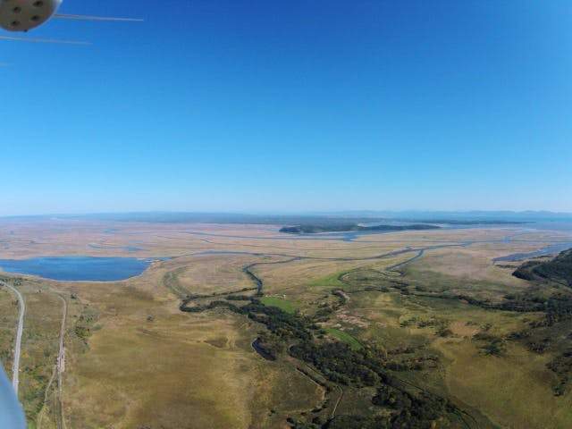 Aerial shot taken from Sergei's new drone