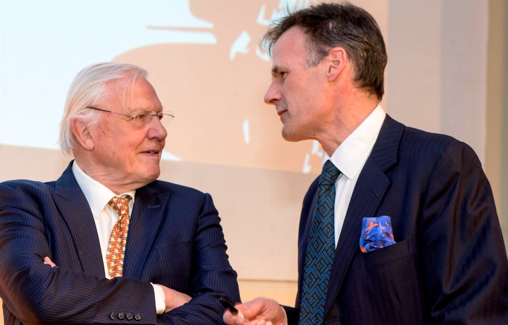 Sir David Attenborough and Edward Whitley