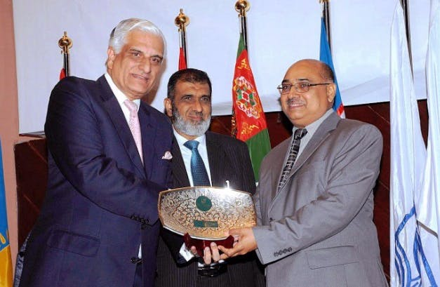 Ali presented with Award